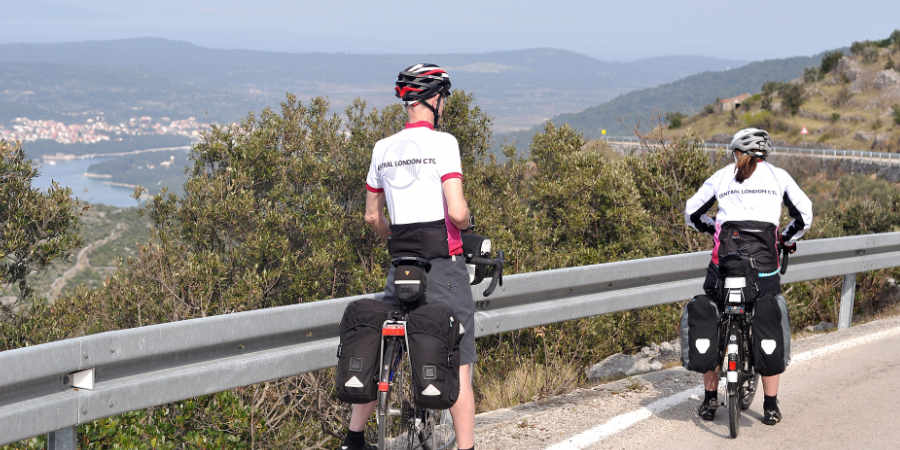 Cycle touring on the Dalmatian coast